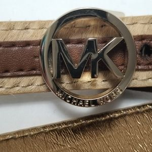 Michael Kors | Genuine Leather Calf's Hair Belt
